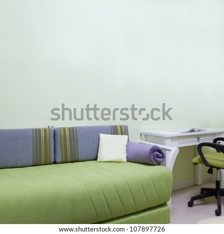 Childrens living room interior