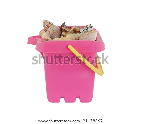 Childs Bucket with sea shells