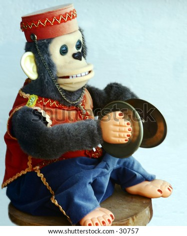 Childs Toy - Funny Monkey - Wind-Up Toy Monkey With Tiny Hand Cymbals