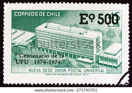 chile   circa 1974  a stamp...