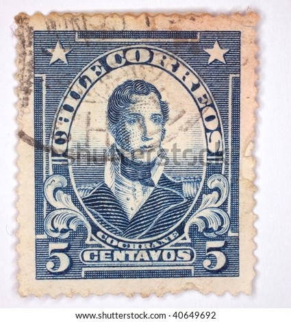 CHILE - CIRCA 1960: A stamp printed in Chile shows image of Thomas Cochrane, series, circa 1960