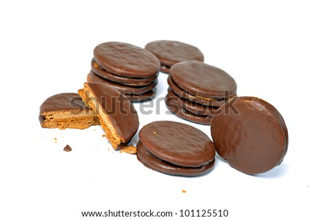 chilean alfajores against a white background
