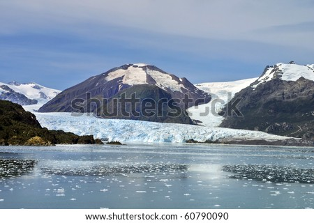 Chilean Fjords and Glaciers, Patagonia.