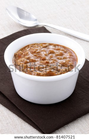 Chili beans with kidney beans and lean ground beef. Chili powder, tomato paste and other delicious ingredients, this great chili recipe can be seasoned to taste to create a mildly flavored dish.