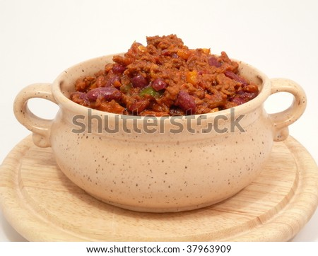Chili con carne, spicy beans and meat