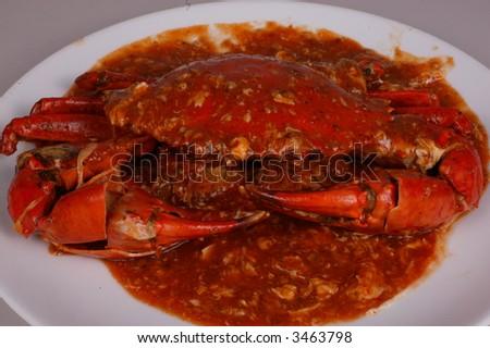 Chili crab - stock photo