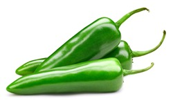 chili pepper isolated on a white background. Pepper Clipping Path