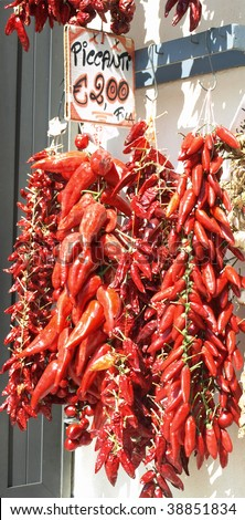 Chili peppers - the symbol of Calabria.