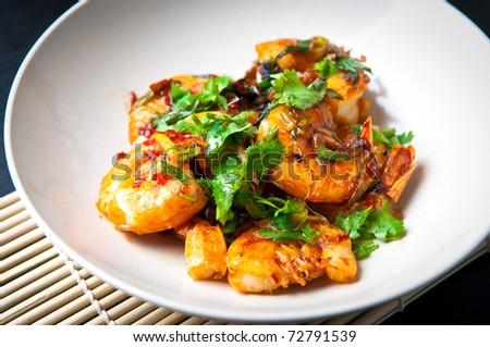 chili prawns