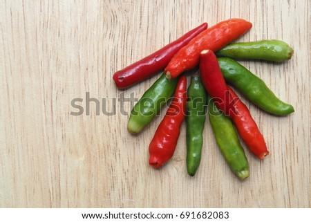 Chili,Thai Chili,Green Chili,Red Chili #691682083