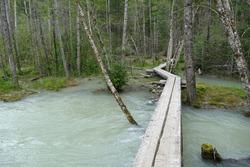 Chilkoot Trail, Klondike Gold Rush National Historic Park, popular hiking route, coastal rainforest zone near Dyea, Alaska, United States