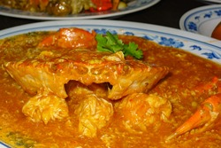 Chilli Crab dishes are very common in Singapore, served in restaurants and hawker centres across the island