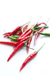 chilli isolated on white background