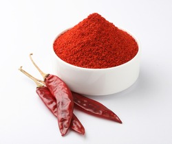 Chilly Powder and dry Chillies, Indian spice