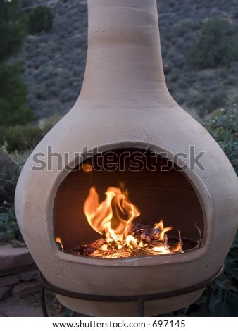 Chiminea and Flame