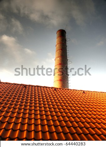 Chimney and roof