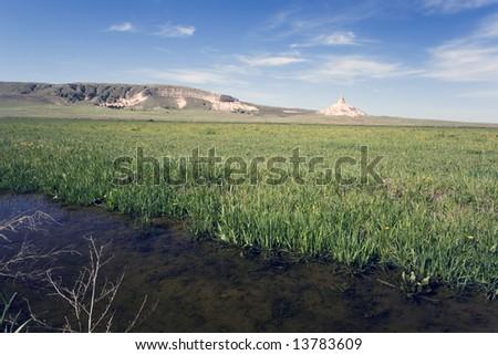 Chimney Rock - landmark of Nebraska