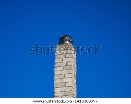 chimney stack from home fireplace #1418080997