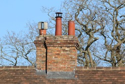 Chimney stack on an old country house