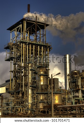 chimneys of industrial buildings