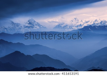 China cattle mountain scenery #411653191