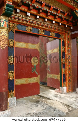 china door / Tibetan entrance door