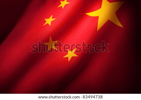 China Flag for background