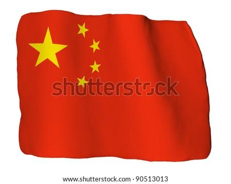 China flag of clay