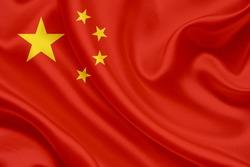 China flag of silk