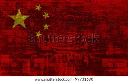 China grunge flag background