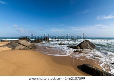 China Hainan Wanning Perfume Bay Coast Scenery
