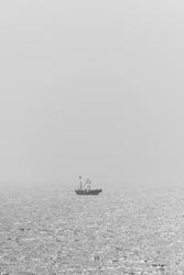 China ocean lifesaver boat blackandwhite