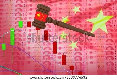 China Regulatory Crackdown Cuts Beyond Investment Zdjęcia stock ©