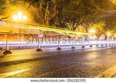 China road night view