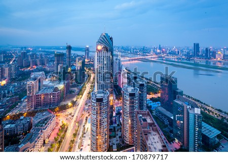 China's Shenzhen city in the night #170879717