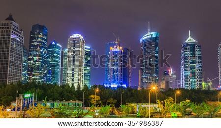 China Shanghai Night #354986387