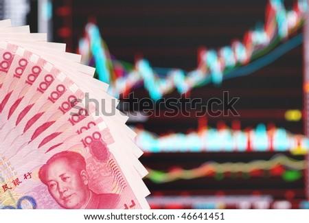 China stock market abstract - stock photo