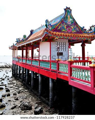 china temple near the sea