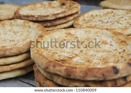 China Xinjiang special food:xinjiang Bread 'nan'