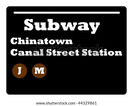chinatown new york city. stock photo : Chinatown Canal
