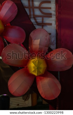 Chinatown, Singapore - January 2019: Decoration flower for Chinese New Year Stock fotó ©