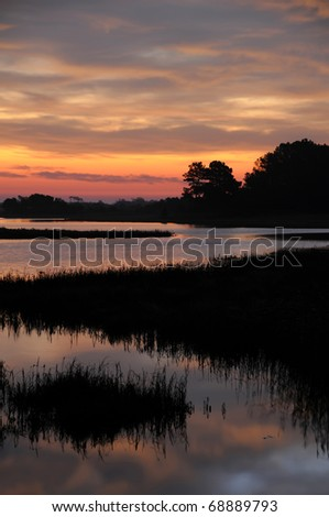 Chincoteague Sunrise Vertical With Copy Space