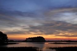 Chincoteague Virginia Sunrise Horizontal with Copy Space