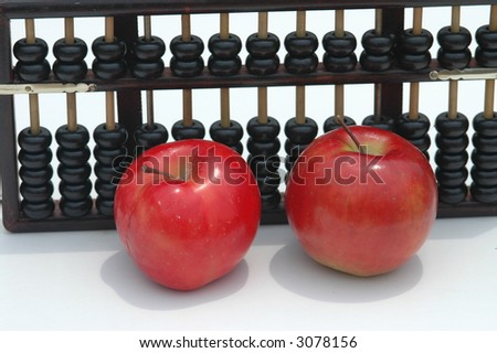 Chinese abacus and red apples: Back to school, Chinese fashion