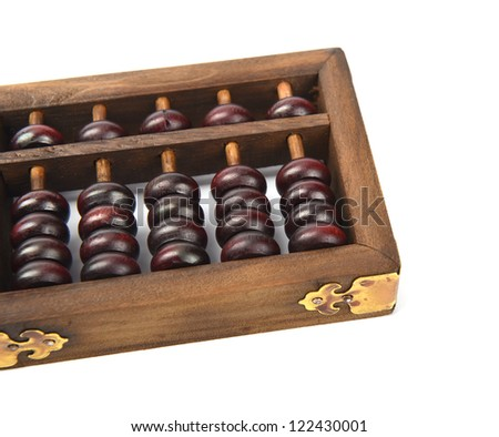 Chinese abacus mean symbols of wealth and prosperity