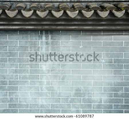 Chinese ancient fence background