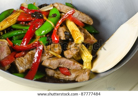 chinese black bean beef stir fry