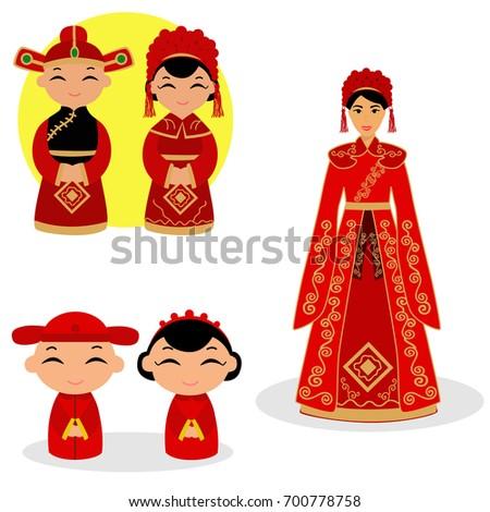 6fa8ef13f8 easy to edit vector illustration of Indian wedding couple #136641095 ·  Chinese bride and groom. Chinese Couple In Traditional Wedding Gown.