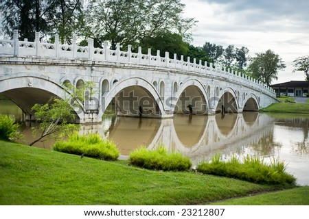 chinese bridge across a river