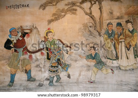 Chinese classic wall drawing